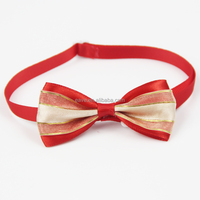 Double Layer Dog Bow Tie with Butterfly Red Color New Design OEM Accepted V1254