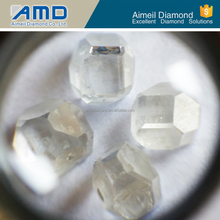 all size lab created HPHT white synthetic diamond rough for Jewelery