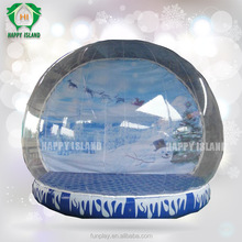 Popular!!Christmas snow globe,indoor inflatable snow globe,Advertising inflatable snow globe