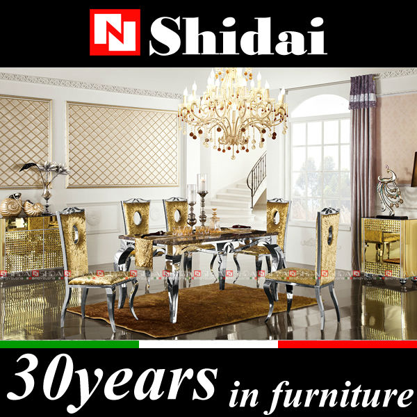 Modern marble dining table set / new model luxury dining table / modern dining room table and chairs LV-A41