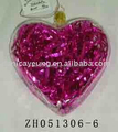 Hot sale heart shaped glass gifts for girlfriend on valentines day