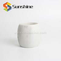 Luxury White Carrara Marble Tiny Flower