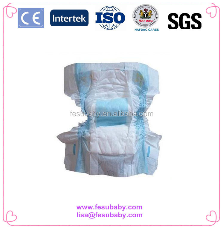 KL1072 2016 Hot Sell Factory Price &Good Quality Blue Core/Cotton Baby Diaper From China