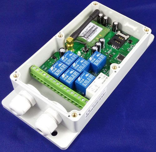 New designed universal seven relay output channel gsm controller