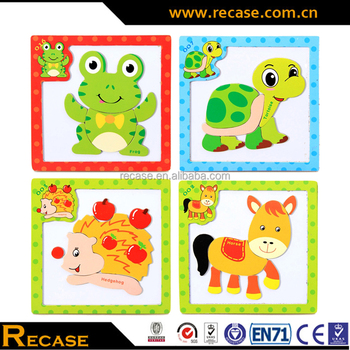 2017 Wholesale New Wooden Toy Fashion Cartoon Animal Toy