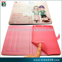 hot selling cute cartoon image PU protective case for ipad 2