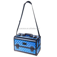 Makeup Artists Cosmetics Train Case With Divine Blue