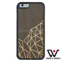 Anti-shock wooden case for iphone 7, make your own phone cover wooden accessories