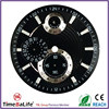 2016 new products 3 layers chronograph super luminous C1 index 3D embossed pattern CD diamond cutting black custom watch dail