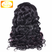 100% unprocessed brazilian virgin hair front lace wig/ full lace glueless cheap human full lace wig for black women