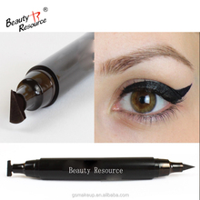 OEM ! Customized Liquid Eyeliner Wing Stamp Pen Double Head Vamp Eyeliner with Wing Stamp