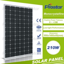 High quality mono 210w 200w 190w 72 cell solar photovoltaic module for home use