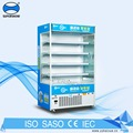 Open Display Milk Soft Drink Supermarket Refrigerator Freezer For Dairy, Vegetables and Fruits Display