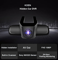 KOEN DVR Novatek 96223 AV Out Hidden 1080P Vehicle Blackbox DVR User Manual
