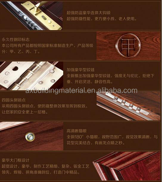 new design stong and classical metal doors