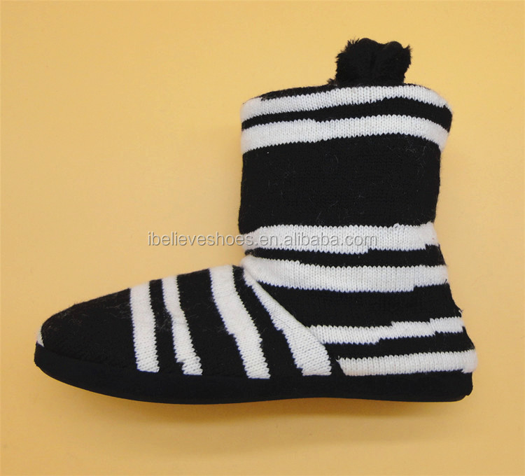 Famous shoes factory women winter knitting boots