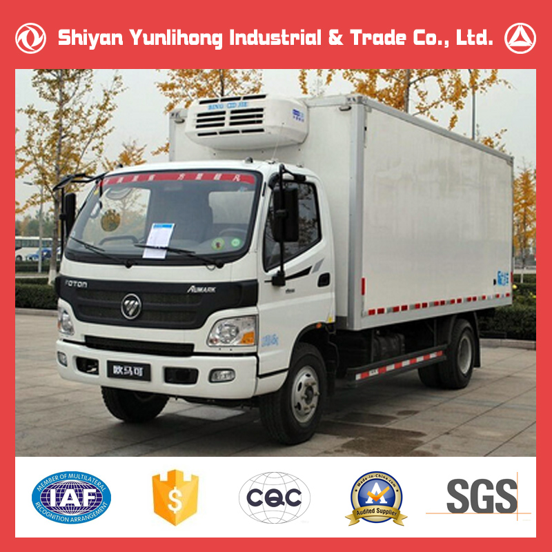 Foton 4x2 2 Ton Refrigerated Van Truck Price/2000kg Small Box Freezer Lorry For Sale