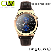 X10 round screen leather and metal band waterproof new phone watch 2013 with heart rate monitor