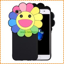 Popular 3D Cartoon Smile Face Soft Silicon Phone Cases Cover For Iphone 6