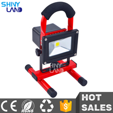 Gules portable emergency rechargeable work 10w led flood light