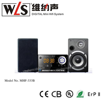 2.0CH Mini HiFi System MHF-333BT(L) support USB AUX line in can connect with mobile phone MP3 pc computer TV