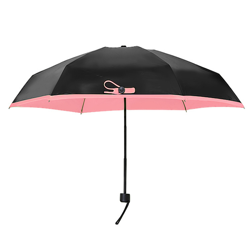 Quality Mini Pocket Umbrella Women Sunny and Rainy Fashion Folding Umbrellas 195g Small Sun Parasol Rain