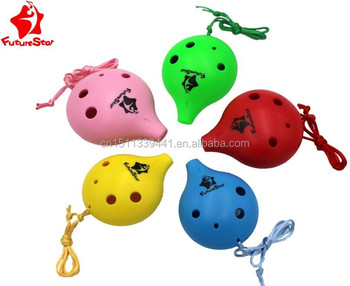 Junior students 6 holes hot sale plastic ocarina for promotion