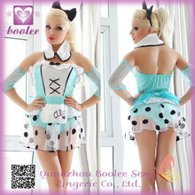 2014 Hot selling Deluxe Fantasy Sexy Bad Girl Alice Costume
