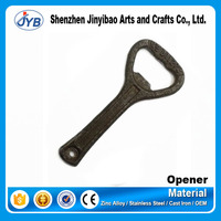 hard strong cast iron beer opener type vintage old style bottle opener