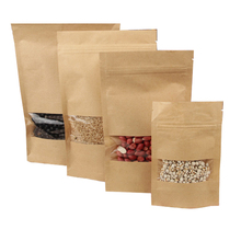 Chinese manufacturer kraft coffee bags with window