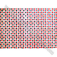 3D Apparel Fabric Sheets Pattern-Changing Poker Playing Card Las Vegas Fashion Material