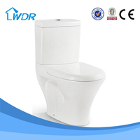 chinese two piece bathroom design push button wc toilet