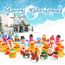 High quality custom Christmas yellow vinyl rubber duck for decoration gift