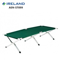 Outdoor Aluminum Cot 600D Nylon Folding Camping Military Bed