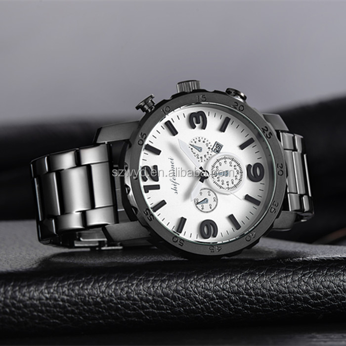 relojes de mujer low moq luxury watches men top brand shifenmei Quartz Analog black watch fasion stainless steel watches for men