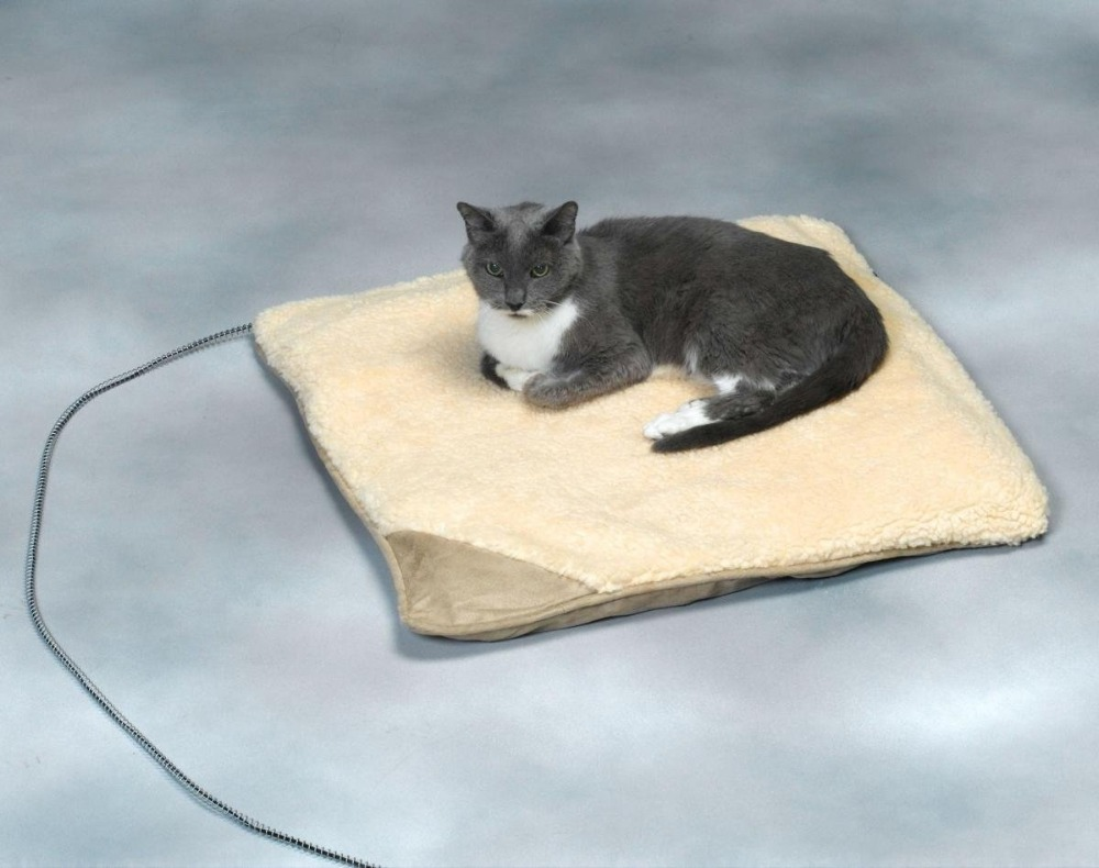 Luxury Battery Heated Pet Mat, Puppy & Cat Heating Beds