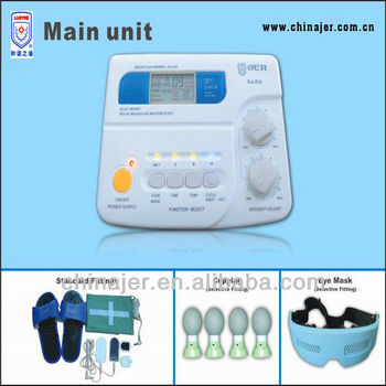 EA-F24 3channels digital home healthcare massager with thermo