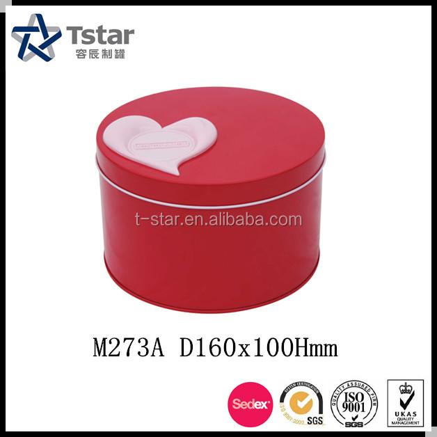 Custom Embossing metal tin can