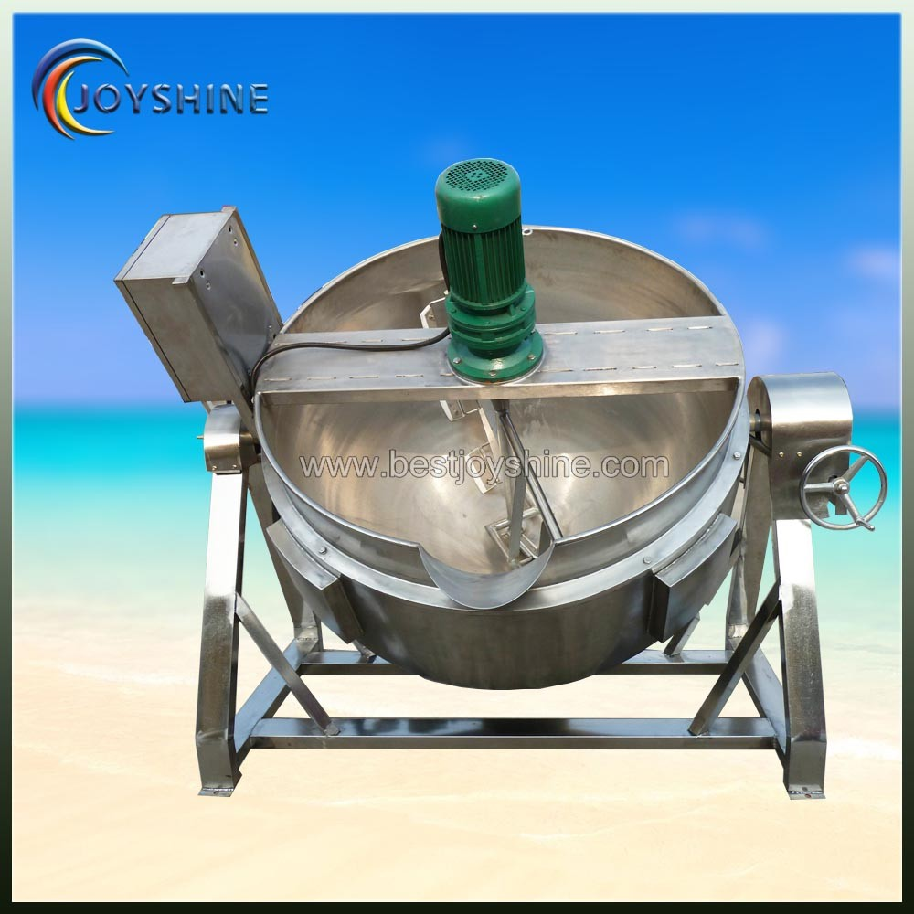 High efficient low price industrial cooking pot with mixer