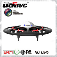 6 motors and HD camera ! 4 CH black UFO remote control air drone, quadcopter Voyager 6