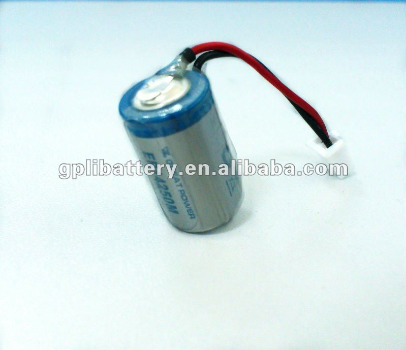 ER14250 1200mAh High capacity 3.6V LiSOCL2 dry Battery used for Water Meter/security emergency/medical and military devices