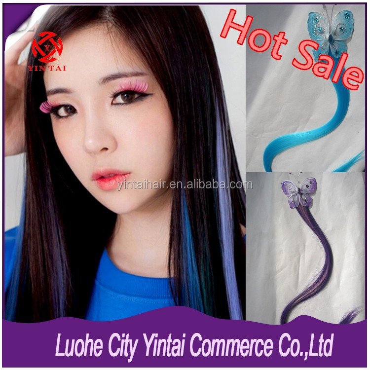 Butterfly Synthetic Clip in Hair Extension, 2016 Most Popular Funny Cosplay Clip in hair