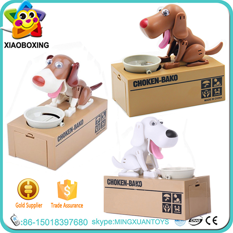 Custom Dog Money Box, Eating Dog Coin bank, Dog Piggy Bank
