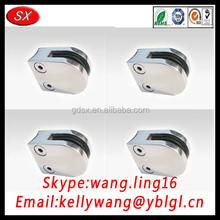 Dongguan factory custom stainless steel glass shelf brackets, glass support brackets, holding brackets made in china