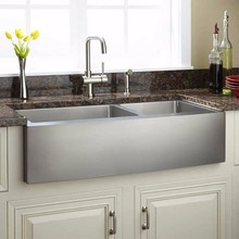 American double bowl fitting handmade kitchen inox sink,kitchen sinks stainless steel,Apron kitchen sink