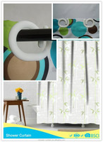 Polyester Hookless Bath Curtains Bamboo Pictures