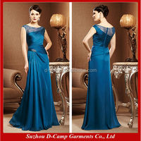 ME-038 Teal mother of the bride dresses with sleeves long dress for mother of groom
