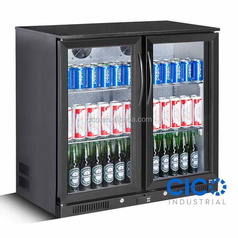 Cico 2 Door Bar Fridge Beer Two Double Display Alfresco Under Bench