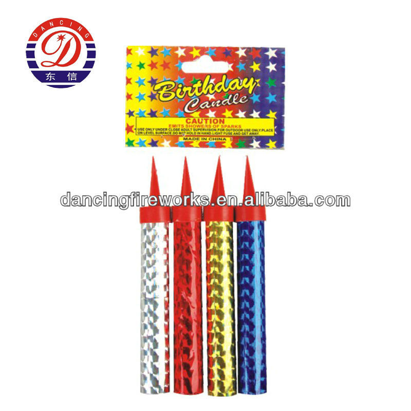HAPPY BIRTHDAY CAKE FIREWORKS CANDLES