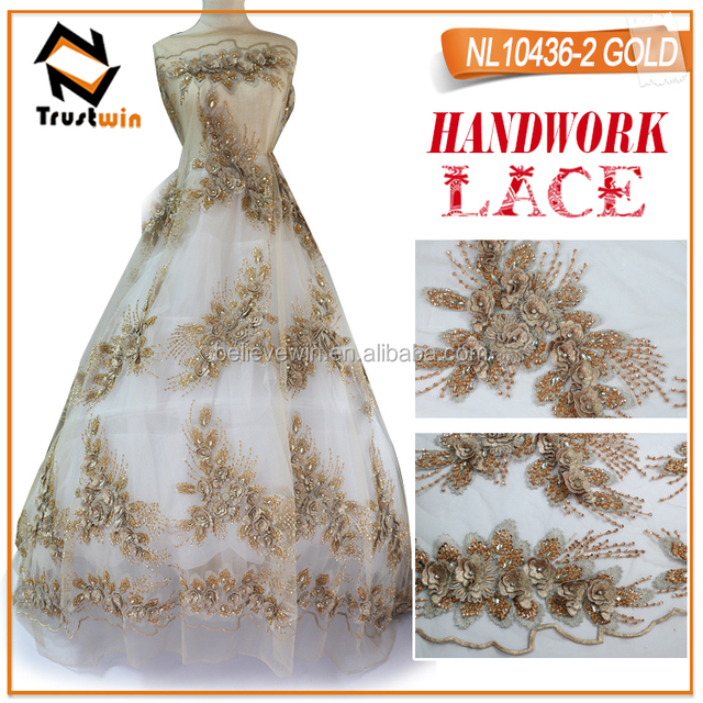 2017 tulle lace fabric for gold bridesmaid dresses